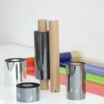 Thermotransferfolie in verschiedenen Qualitäten, Maßen und Farben.