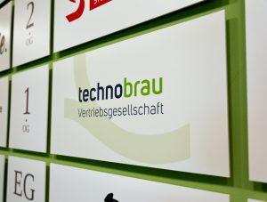Firmenschild der technobrau Vertriebsgesellschaft